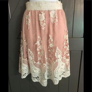 NWT Altar'd State lace skirt with blush lining❤️❤️